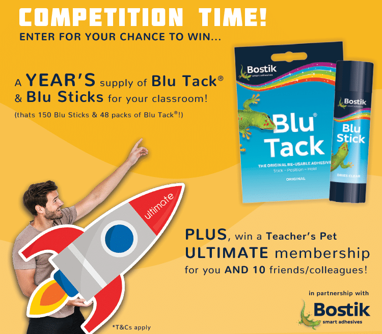 Win with teachers pet and bostik