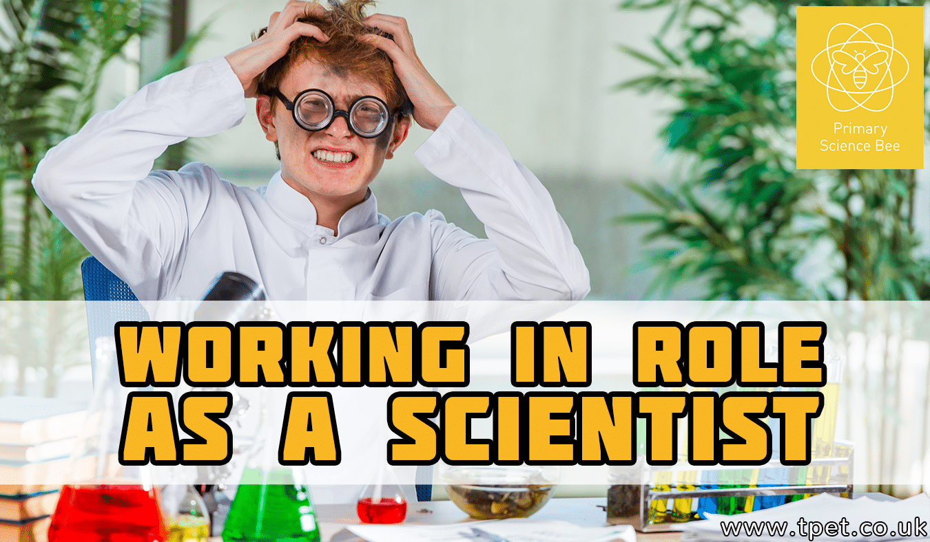 Working in role as a scientist