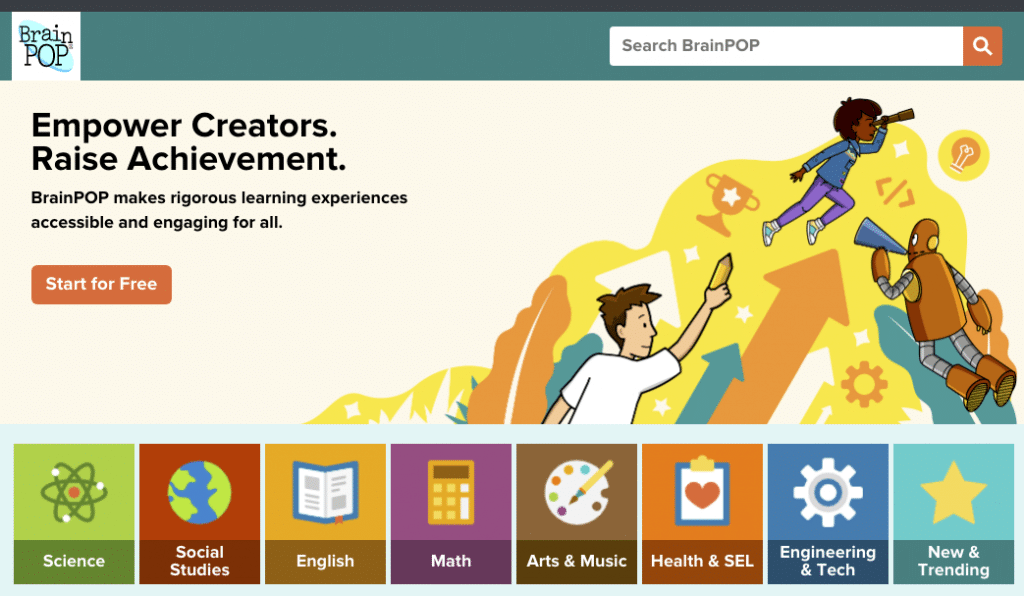 brainpop website screenshot