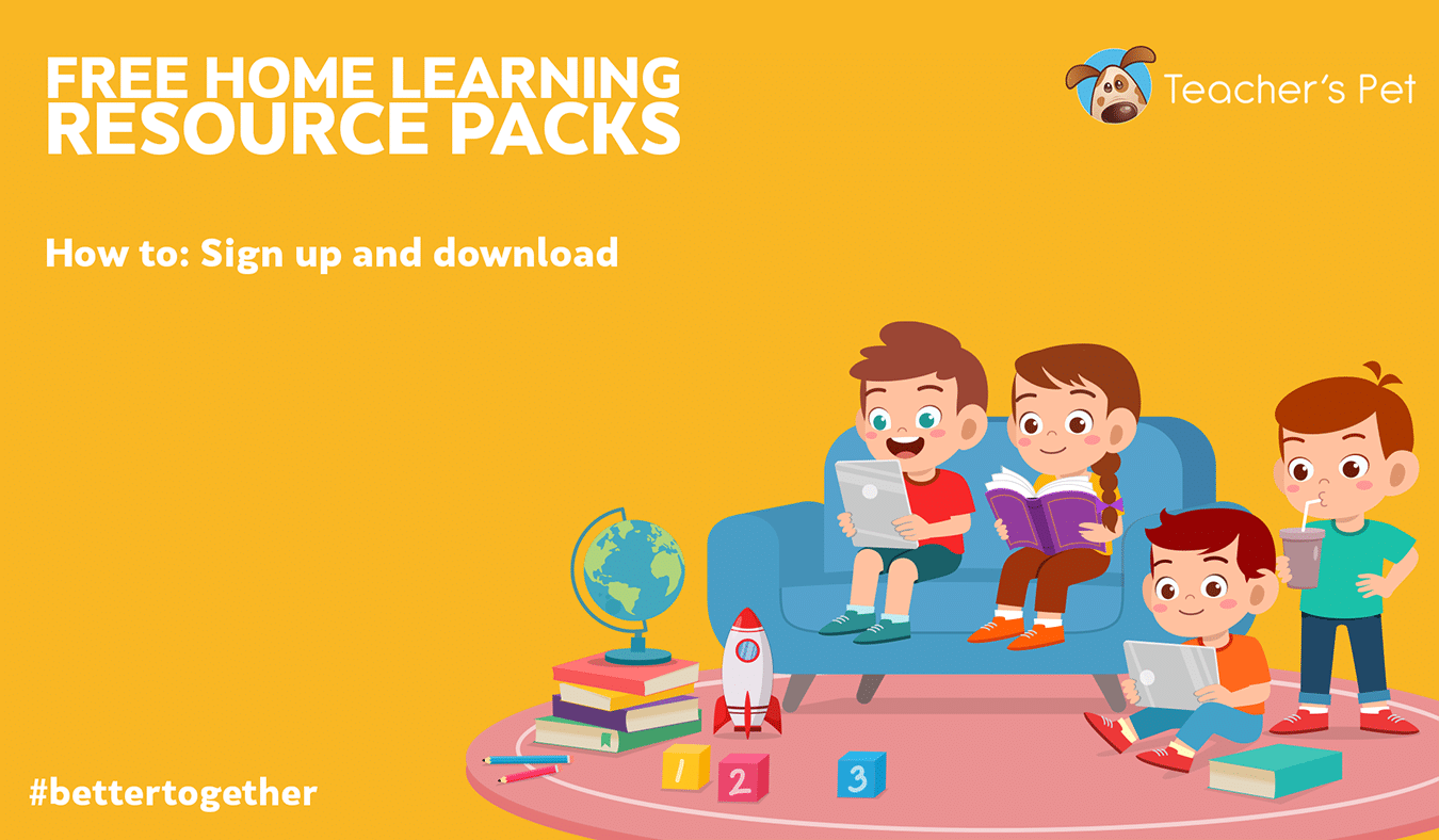 How to: Create your FREE account and download our FREE Home Learning Resource Packs.