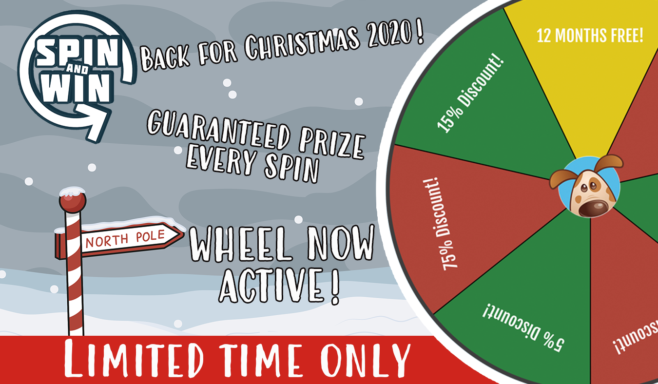 Spin and Win is Back For Christmas 2020!