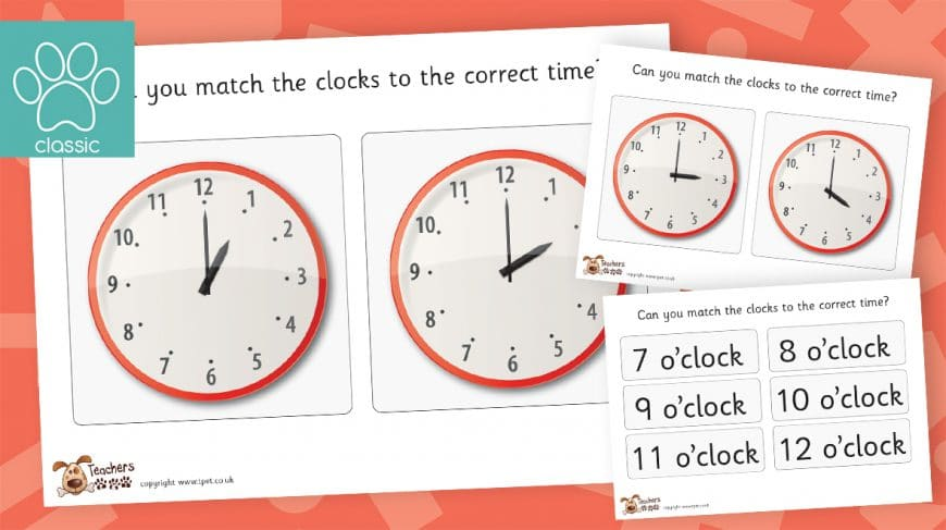 time matching o'clock game