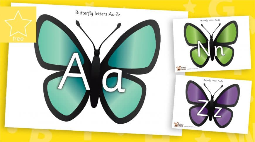 butterfly alphabet letters