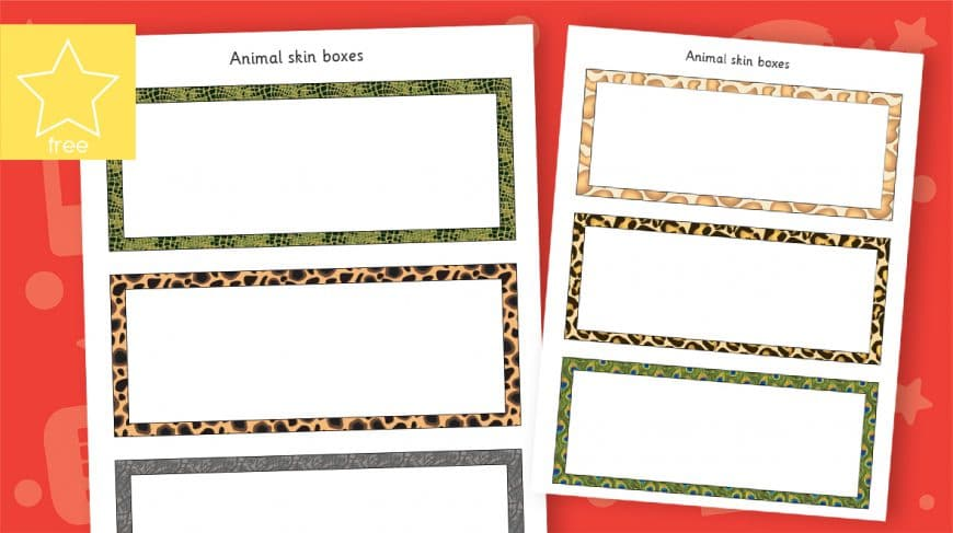 blank African animal skin labels