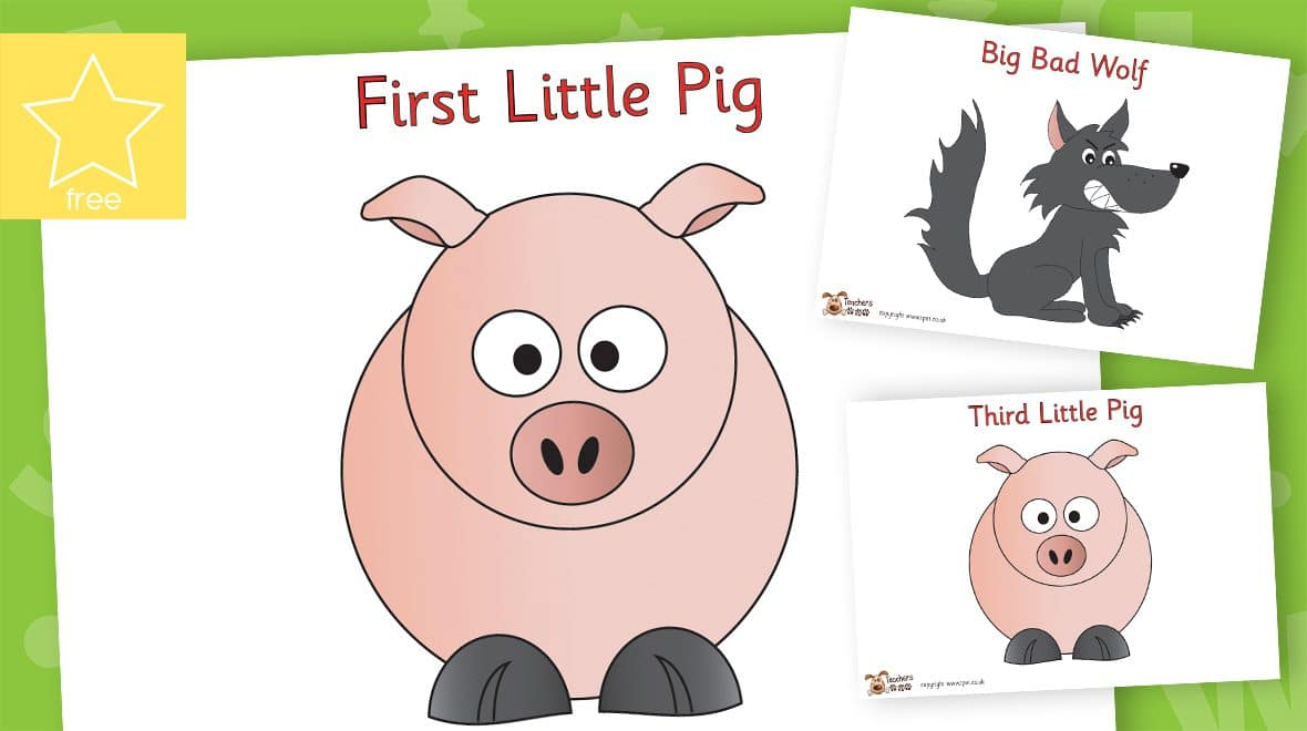 the three little pigs character posters