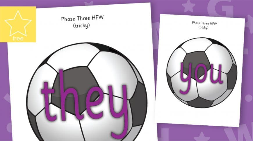 phase 3 high frequency word footballs