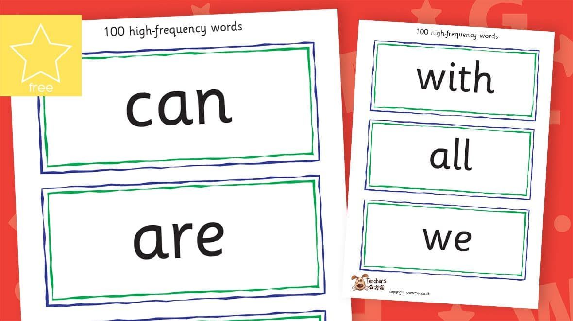 high frequency word labels