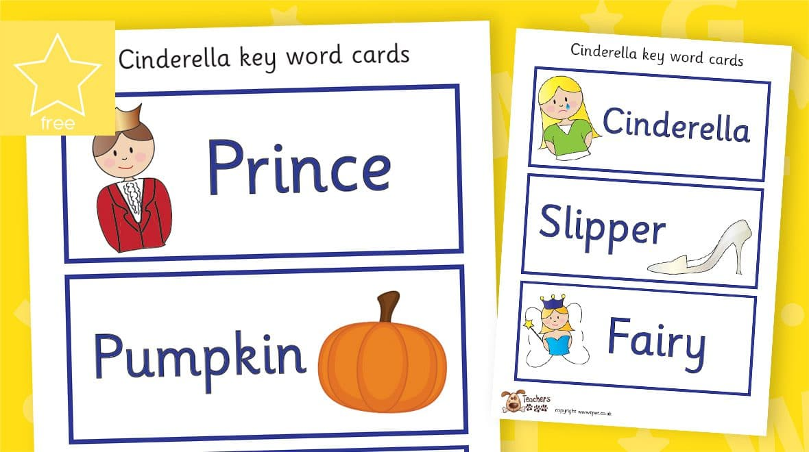cinderella fairy tale story labels