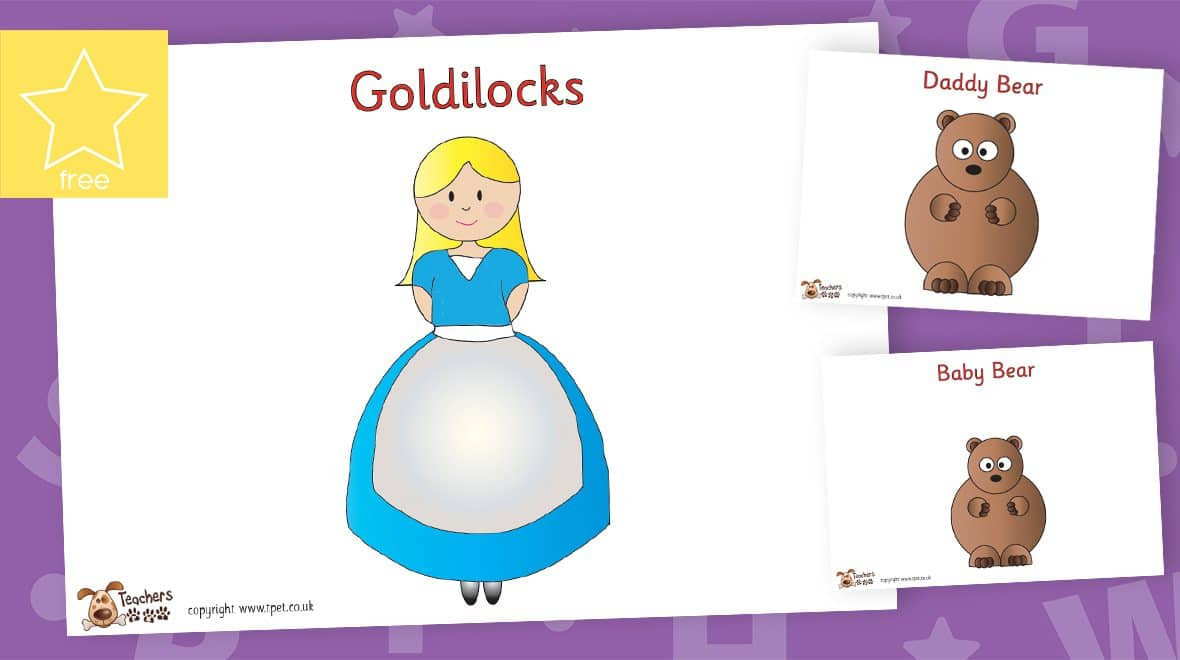 goldilocks and the three bears character posters