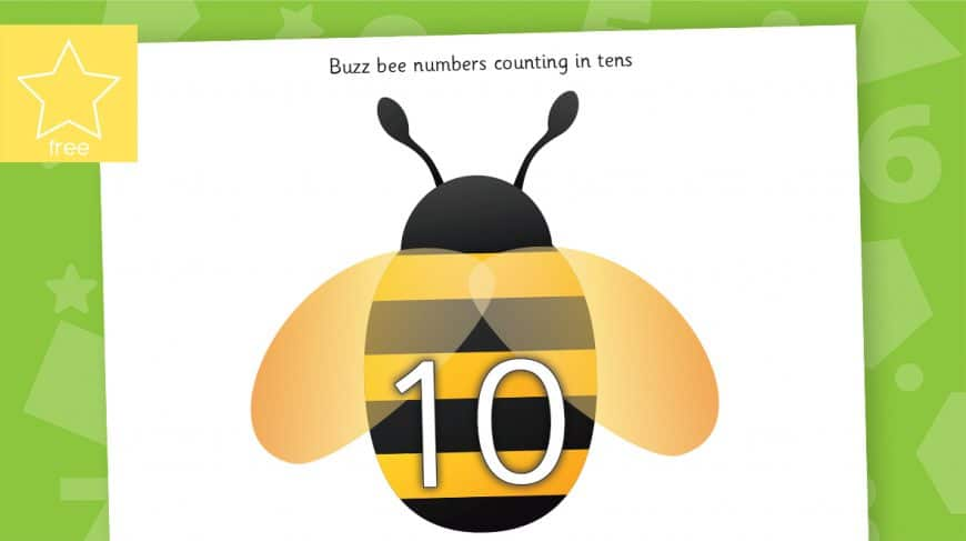 bee counting in 10s to 100