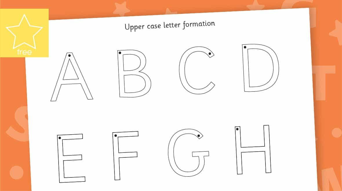 letter formation upper case mat