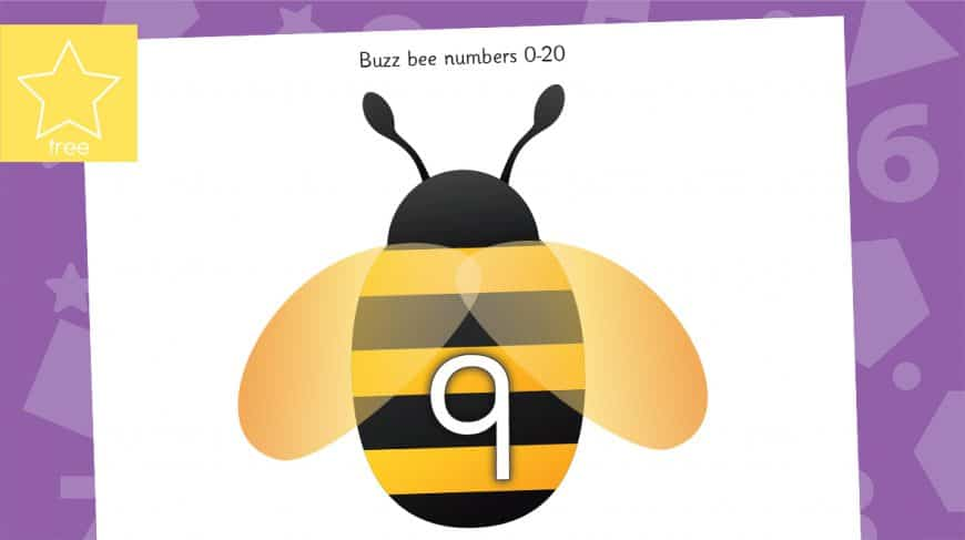 bees numbers counting to 20