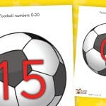 Footballs Numbers to 20
