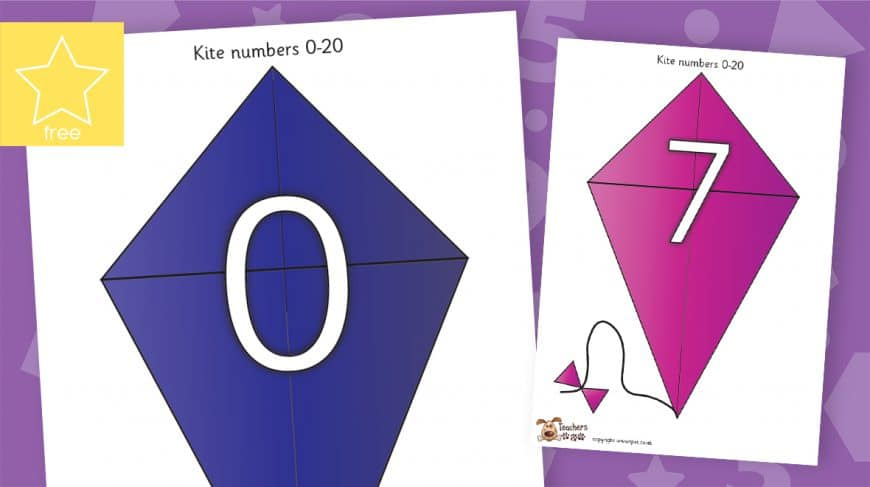 kites numbers counting to 20