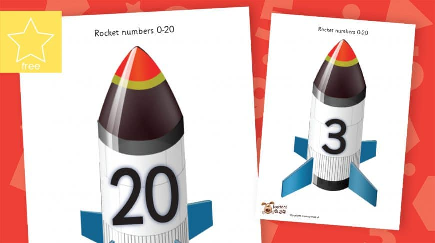 large rocket numbers counting to 20