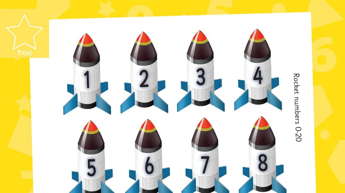 mini rocket numbers counting to 20