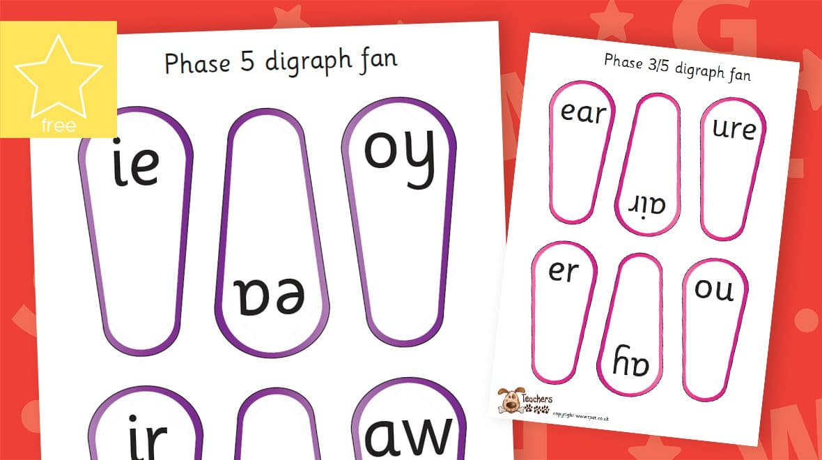 phonic digraph letters and sounds fans