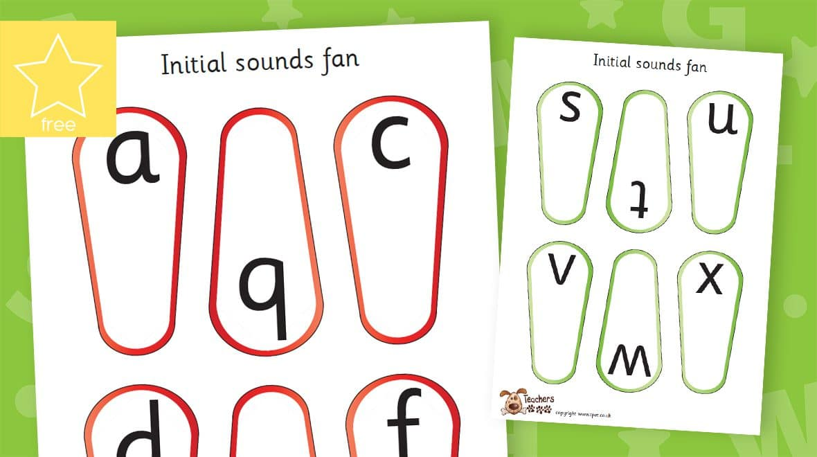 initial sounds phonic letters and sounds fans