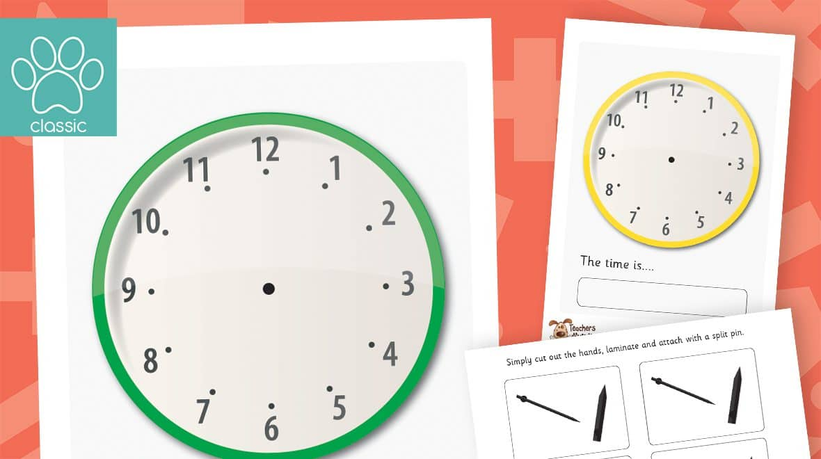 clock time telling pack