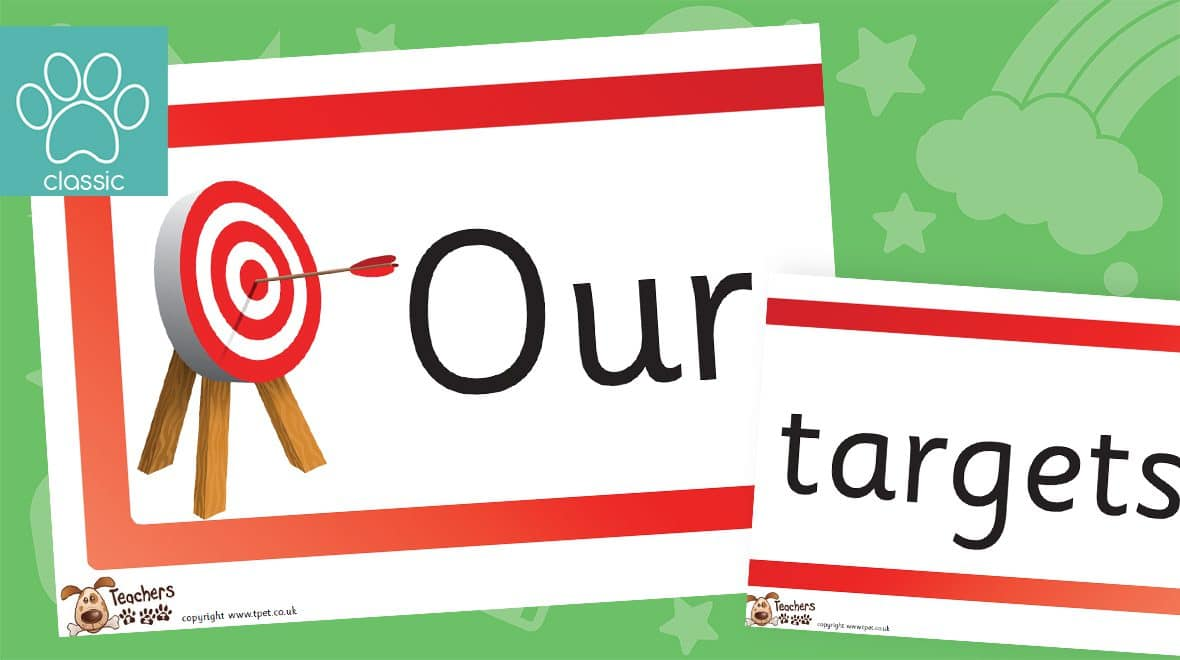 our targets classroom display banner