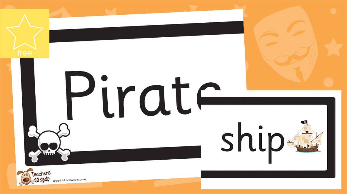 pirate ship classroom display banner