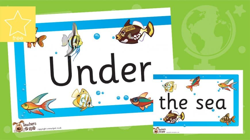under the sea classroom display banner