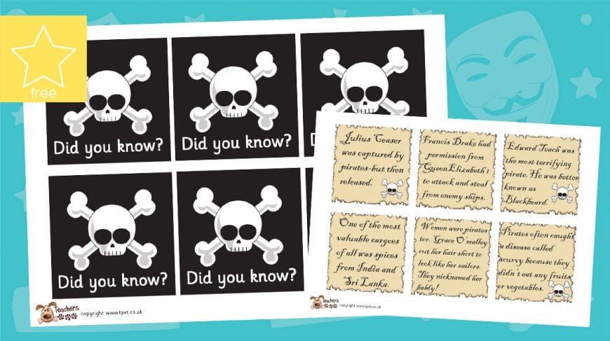 pirate did you know fact cards