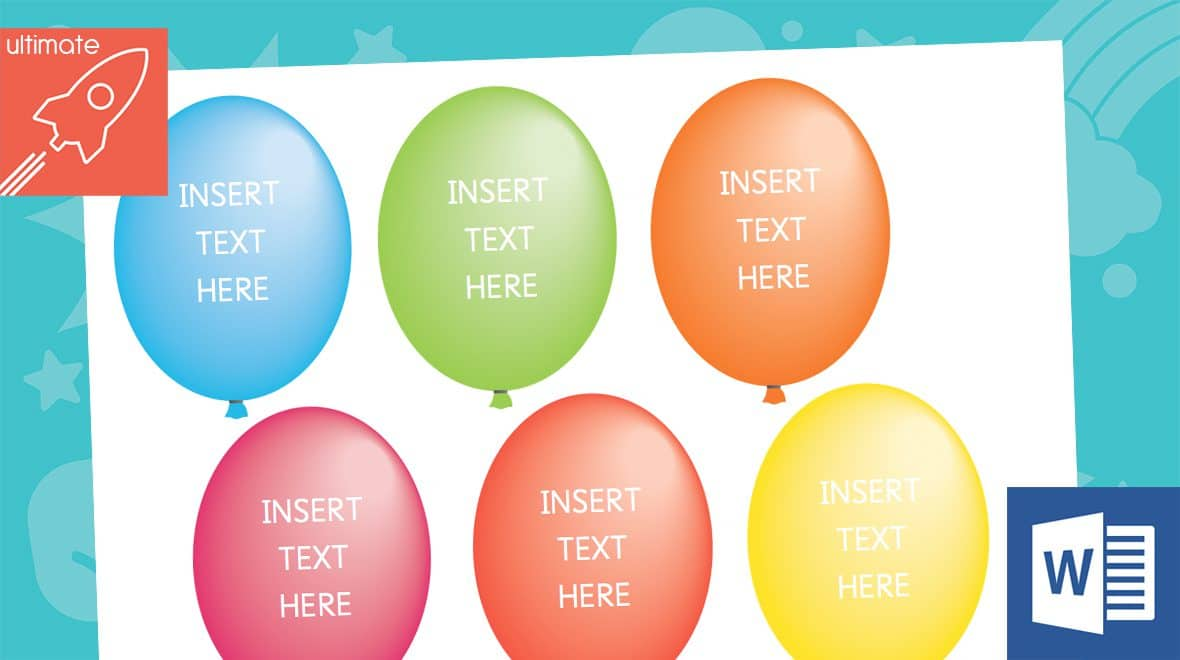editable balloon labels