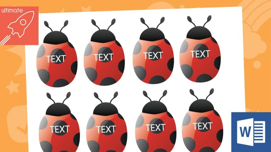 editable ladybird labels