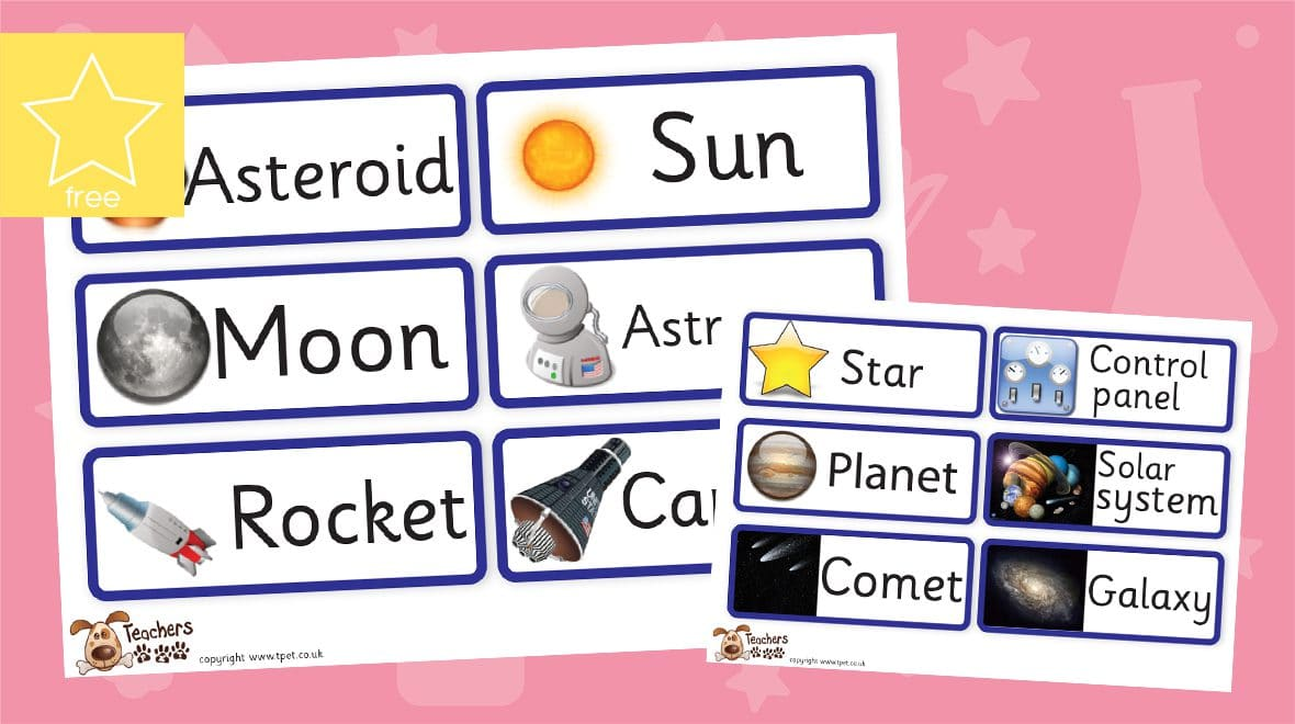 space labels