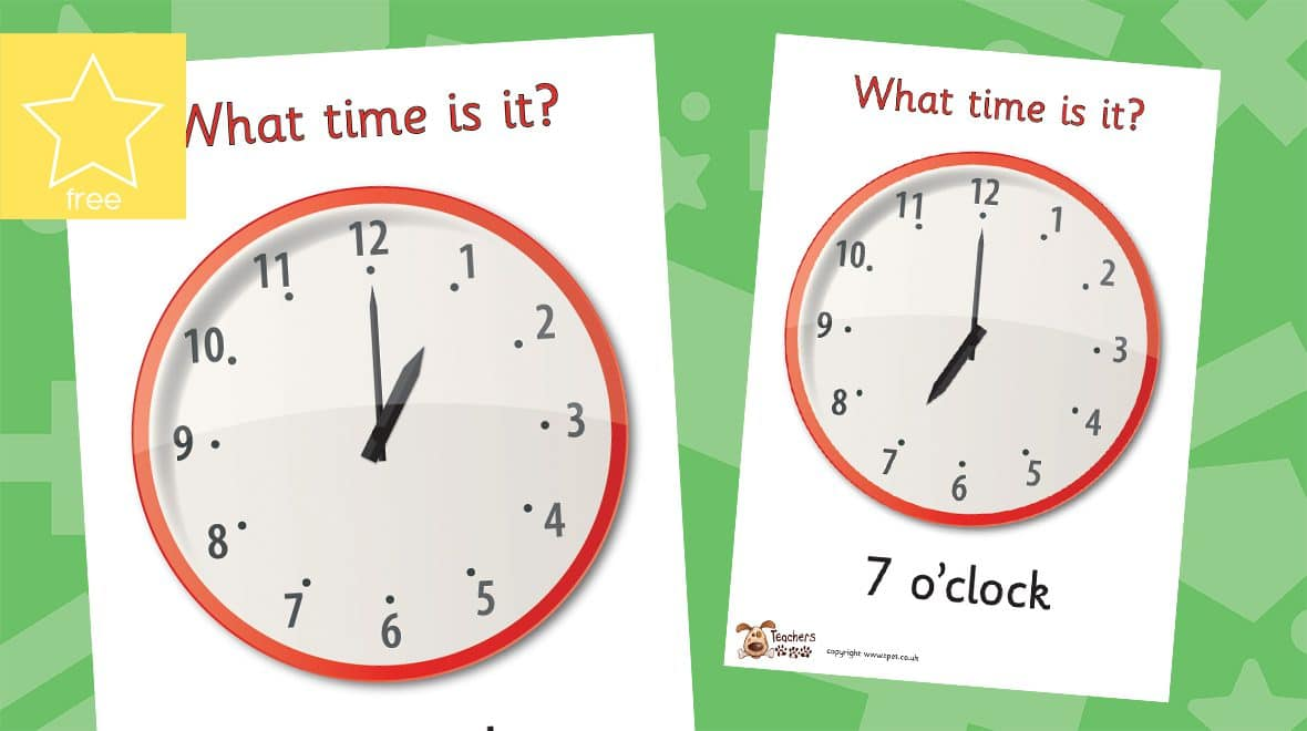 o'clock timeposters