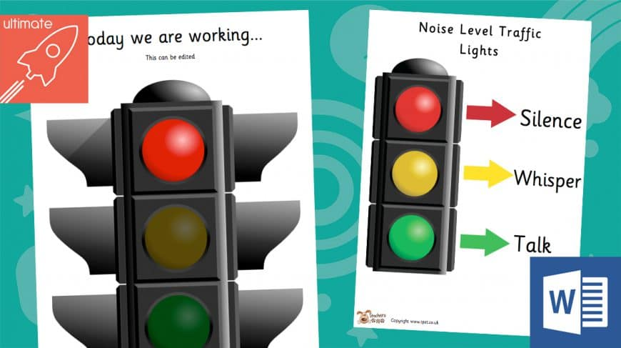 editable traffic light system posters