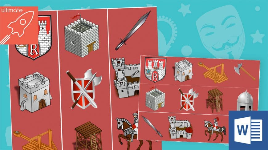 editable classroom display castles borders