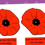 Editable Remembrance Poppies