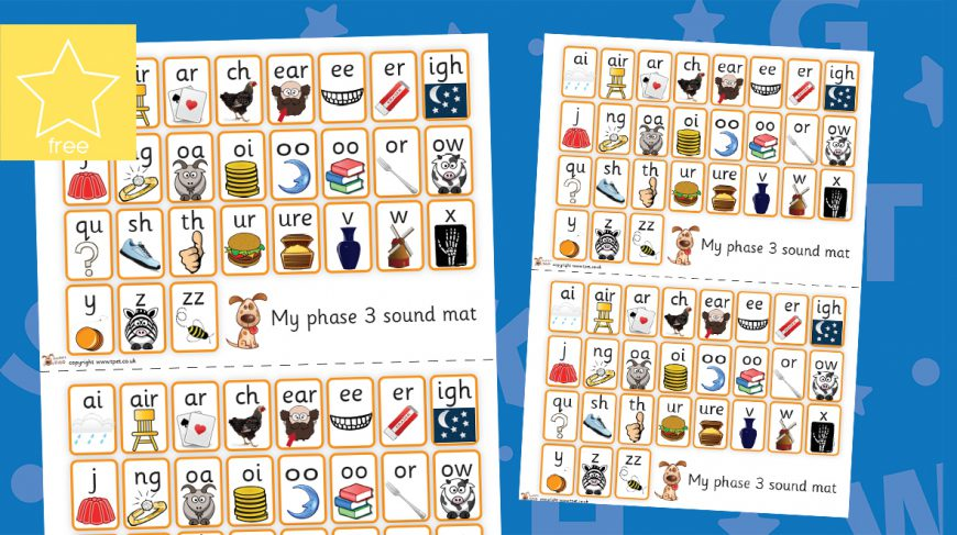 phonics phase 3 letters and sounds mats
