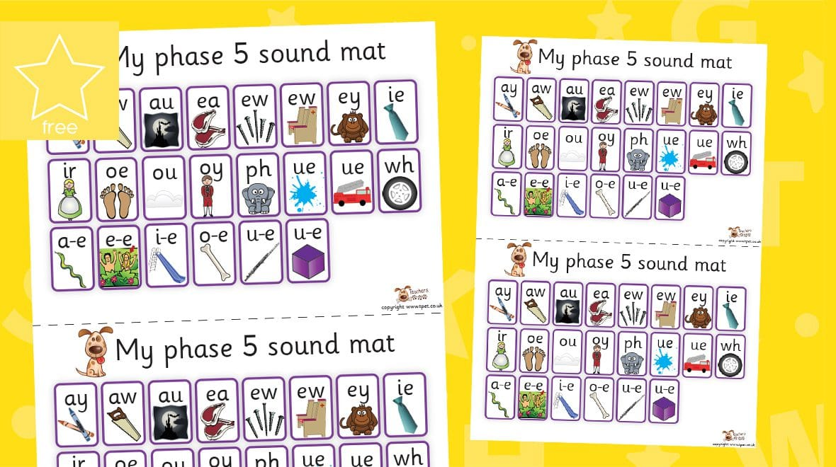 phonics phase 5 letters and sounds mats