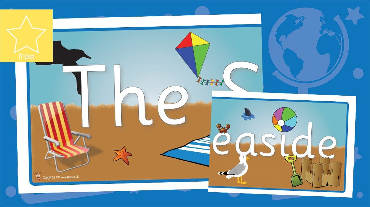 seaside classroom display banner