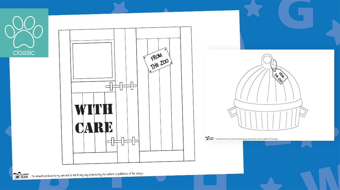 dear zoo colouring pages