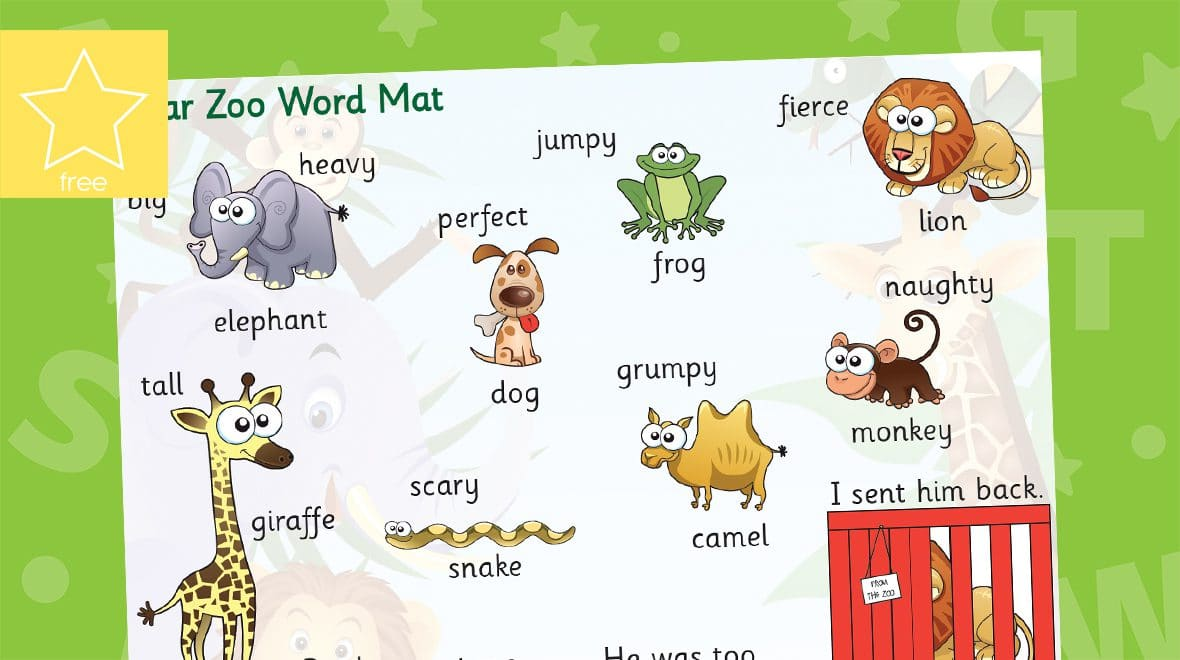 dear zoo word mat