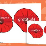 Remembrance Day Word Poppies