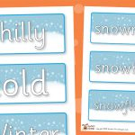 Winter Word Labels