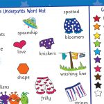 Aliens Love Underpants Word Mat (White Background)