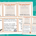 World War 2 Rationing Fact Cards