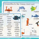 Commotion In The Ocean Word Mats