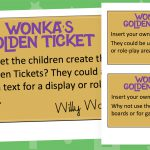 Editable Charlie and the Chocolate Factory Golden Tickets