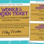 Charlie and the Chocolate Factory Display Tickets