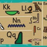 Ancient Egyptian Hieroglyphics Borders