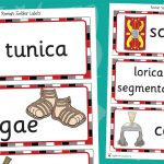 Roman Soldier Latin Word Labels