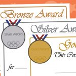 Olympic Medal Certificates