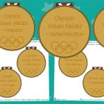 Olympic Values Display Medals